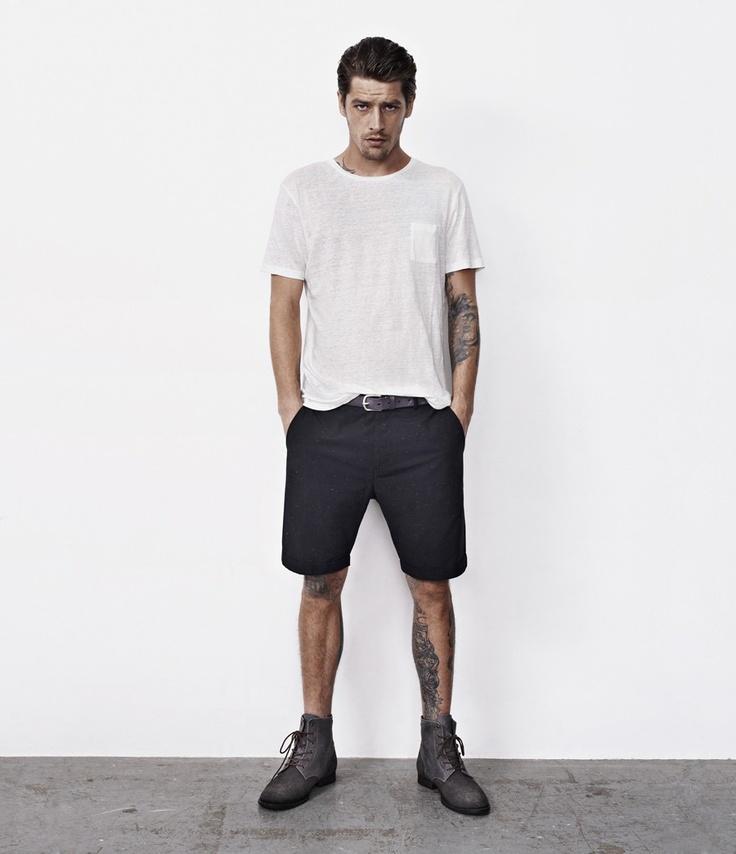 Preston Shorts, Men, New, AllSaints Spitalfields