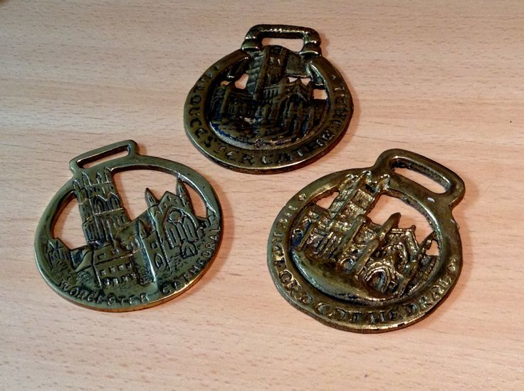Three Choirs Cathedrals horse brasses by MerryLegsandTiptoes on Etsy