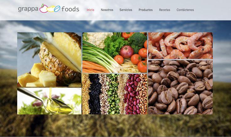 Sitio web para GRAPPA FOODS en Canadá- Año ©2014