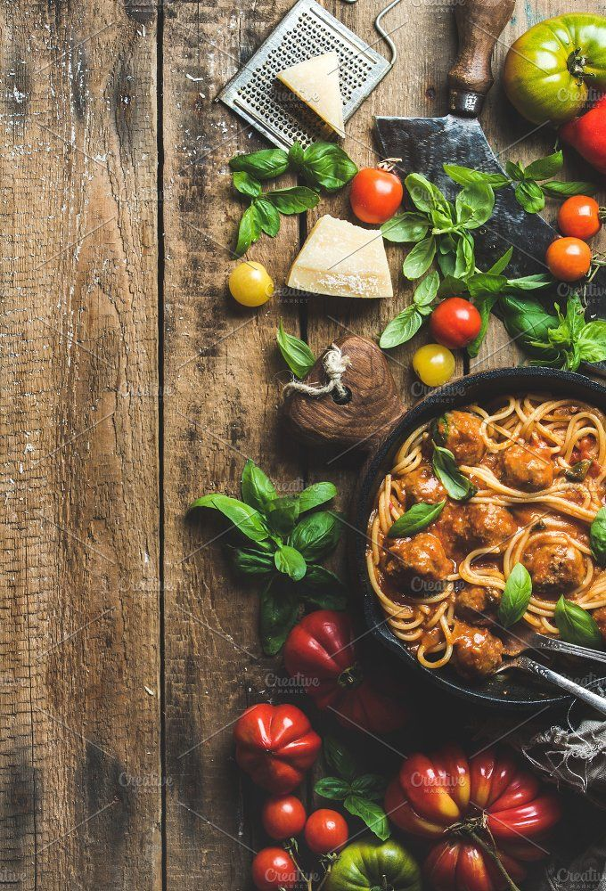 Italian pasta spaghetti. Best food stock photos for businesses like food menu, blogging, graphic design, poster. More #food #photos you can download here ➝ https://creativemarket.com/photos/food-drink?u=BarcelonaDesignShop #menu #creative #download #food #restaurant #design #cafe #vintage #chef #cooking #branding #stock #photo #style #social #media #facebook #recipe #blogger #designer #photography #blog #flatlay #instagram #digital #image #pasta #background #meal #eating #healthy