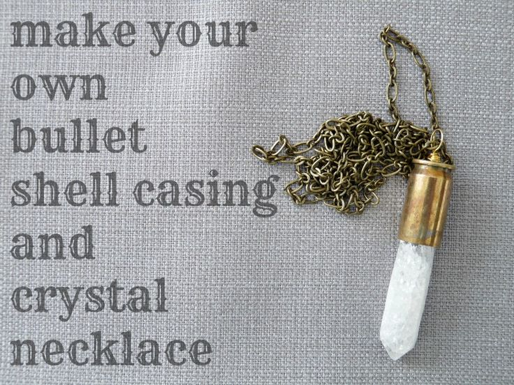 Dans le Townhouse: DIY Bullet Shell Casing Necklace :: i knew there was a reason i saved all my casings!! x3