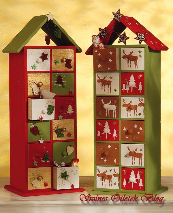 Adventi naptár - fiókos házikó tele ajándékkal - Színes Ötletek Blog