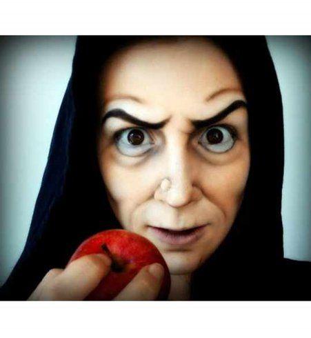 Maquillage d'Halloween : la sorcière de Blanche-Neige