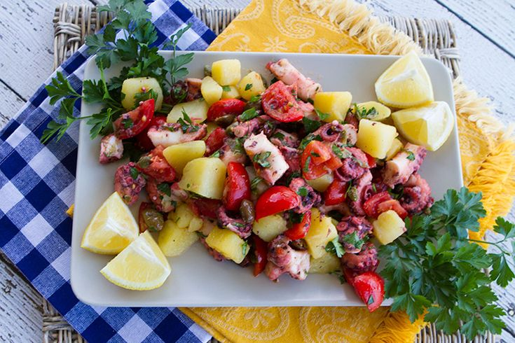 Octopus Salad With Potatoes, Tomatoes, Olives, & Capers – Italian Food Forever
