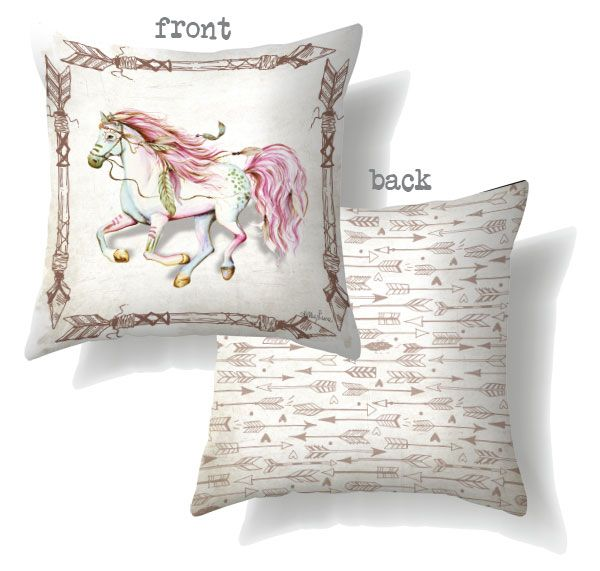 Set 2 Pony Horse Cushions Home Decor $89.95