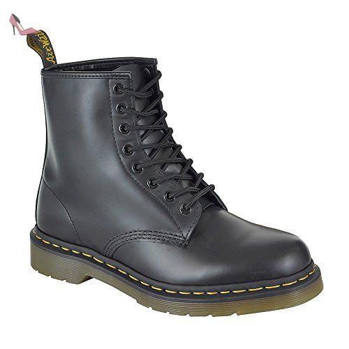 Dr Martens Chaussures pour homme/femme, tige en cuir à lacets style Casual/Air 8 Oeillets 1460 bottes avec semelle rembourrée - 11822006 - Noir - noir, - Chaussures dr martens (*Partner-Link)