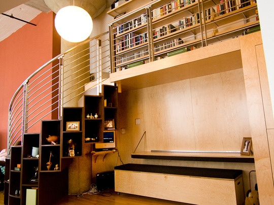 Bookcase stairs! #bookcase: Loft Libraries, Books, Dreams Houses, Spirals Stairca, Libraries Loft, Stairs Storage, Houses Ideas, Bookca Stairs, Bookcases Stairs