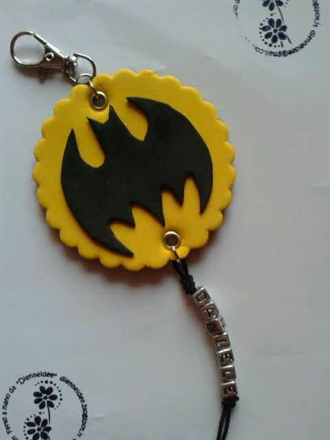pendant school bag personalised batman