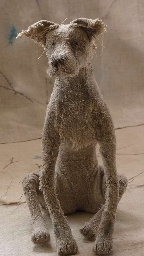Holy Smoke: fiber sculptures of dogs that might just follow you around the house begging for a pat on the head.