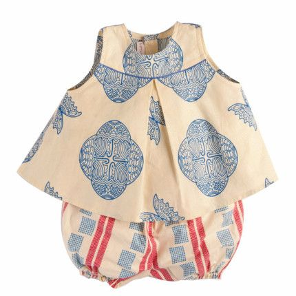 Butterfly top and checkers bloomers