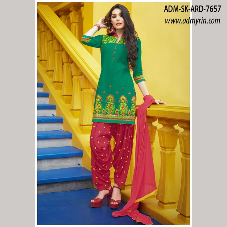 """""""BEBOLICIOUS ! 😍"""" -- that would your first expression when u have a check out our #NEW ARRIVALS - ARADHANA collection of PATIALA STYLE DRESS MATERIAL WITH BOTTOM AND DUPATTA.  #Cod #patiala #dress #material #bhelpuri #unstitched #cotton #chiphon #Embroidered #printed #casual #patola #New #Arrivals #Classy #Punjabi #punjaban #kareenakapoor #Style  #followus 4 #more #fashion #her #Follow4follow #facebook #instagram #twitter  Our price :- 1199 INR ONLY /-"""