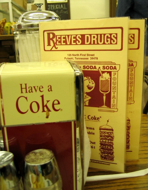 Reeves Drugs, Pulaski, TN still get cokes for a nickle!