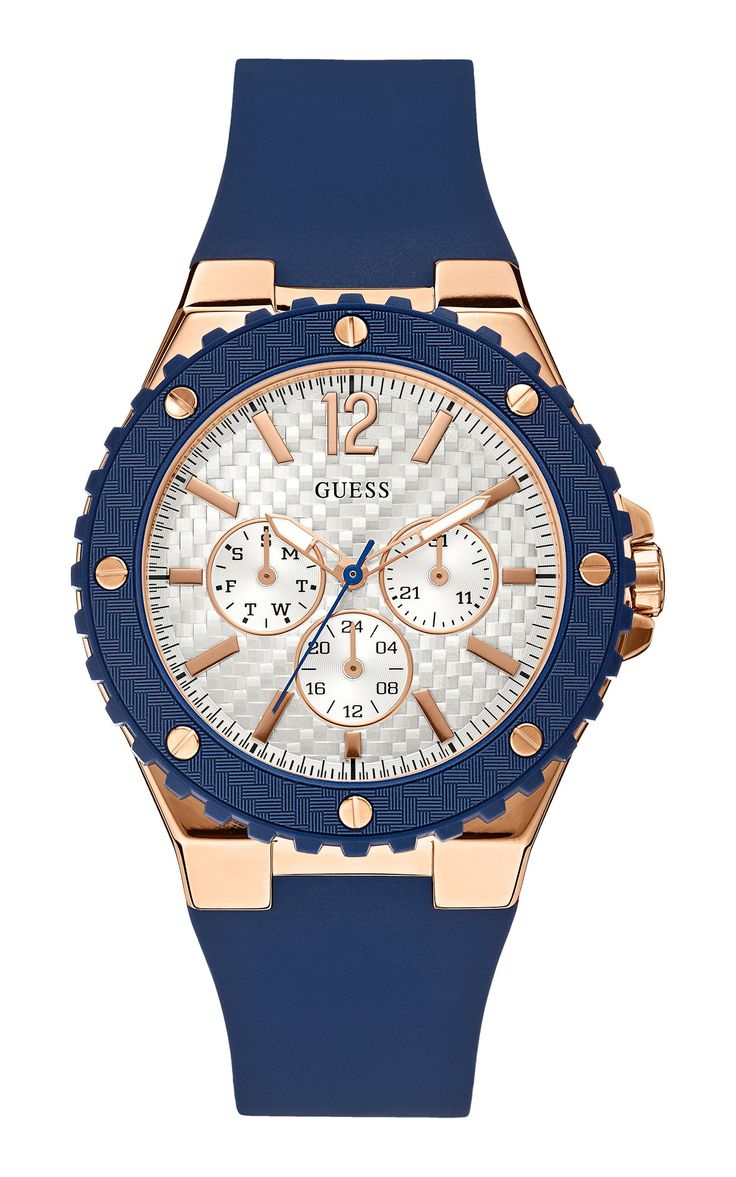 GUESS Women's Sporty Oversized Multi-Function Watch