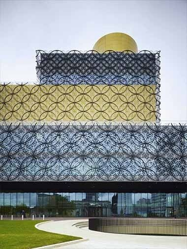Mecanoo's Central Library in Birmingham, United Kingdom.