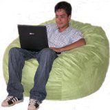 4-feet Lime Cozy Sac Bean Bag Chair Love Seat