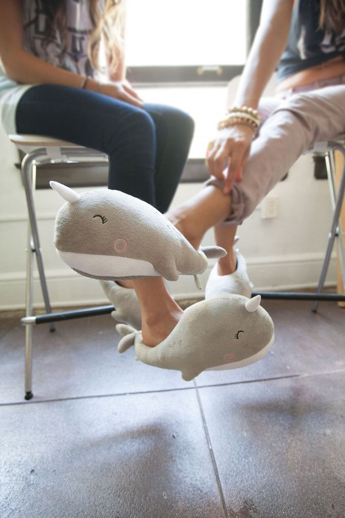 Usb Heated slippers!? Whaaat?! Nari Narwhal USB Heated Plush Slippers (Pre-Order) #narwhals
