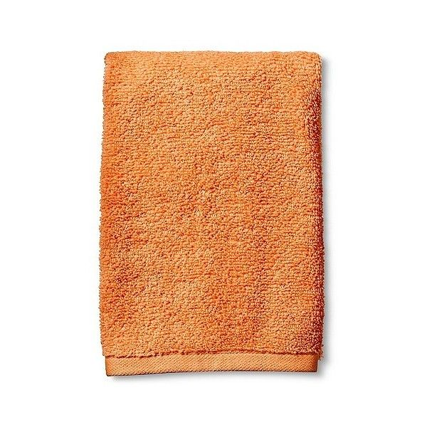 Fast Dry Hand Towel Super Orange ($3.19) ❤ liked on Polyvore featuring home, bed & bath, bath, bath towels, filler, orange fillers, super orange, orange bath towels, plush bath towels and room essentials