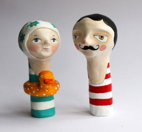 Paper Mache finger puppets