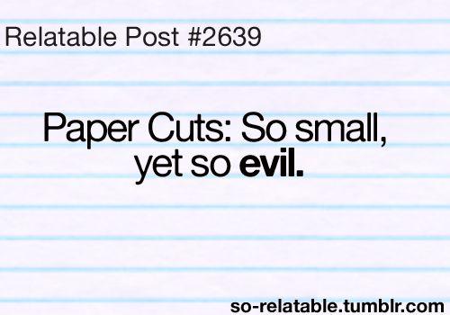 Office jerk i hate paper cuts