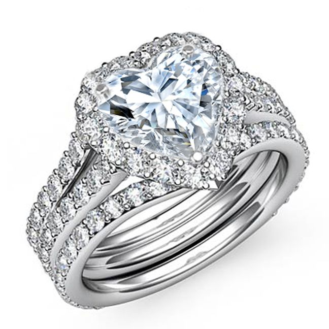 bridal diamond wedding ring sets | center diamond not included select a center diamond here question