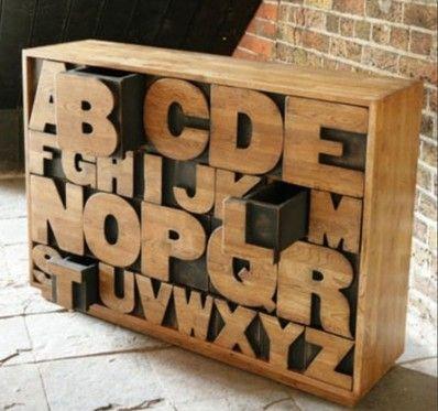 Дизайнерский шкаф ручной работы Alphabet Case