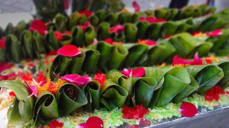 Paan : Traditional Indian After meal delicacy.