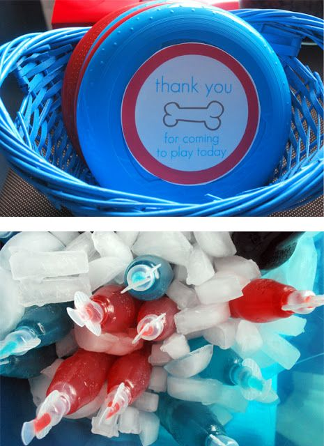Frisbees as party favors for a puppy party- not to be the crazy dog lady, but I have thought of this