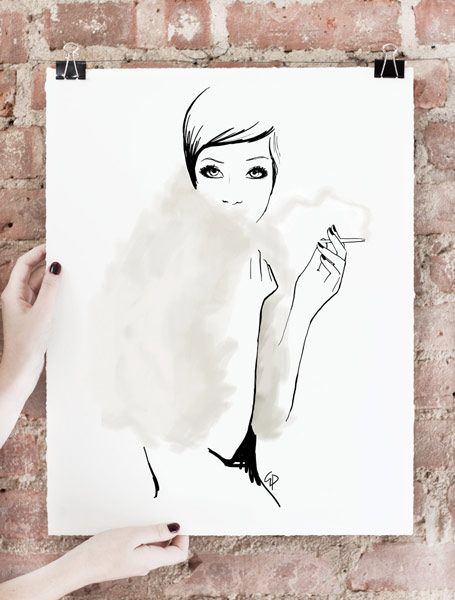 The Last Smoke Art Print, Limited Edition of 75