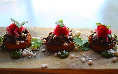 menu @tastebarstl : Barbacoa- braised beef cheeks, pickled red onion ...