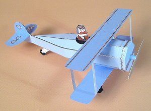 Card Craft / Card Making Templates - Opening 3D Biplane/Aeroplane by Card Carousel
