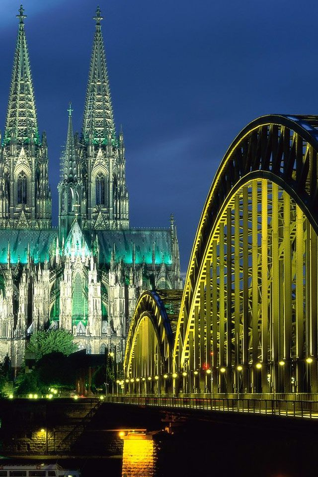 Koln Cathedral and Hohenzollern Bridge, Koln - Germany