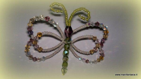 tutorial farfalla di perline