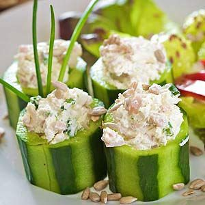Salmon Stuffed Cucumbers: This Recipe is appropriate for ALL 4 Phases of