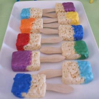 Paintbrush rice crispy treats I know what I'll make for a painting party lol