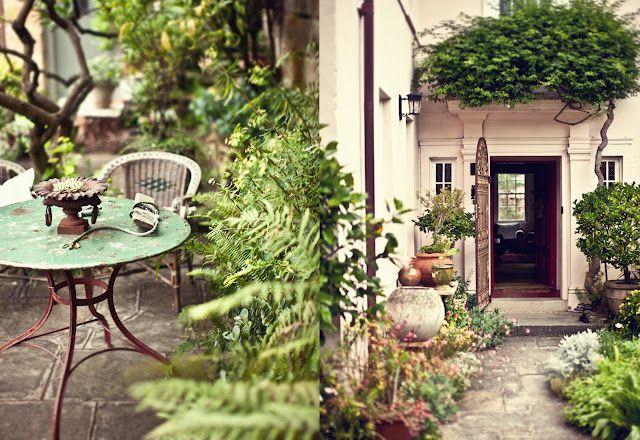 Outdoor space, garden via What Katie AteModern Gardens, Rose Bays, Gardens Patios, Sweets Treats, Sweet Treats, Small Gardens, Outdoor Spaces, Gardens Interiors, Katy Ate