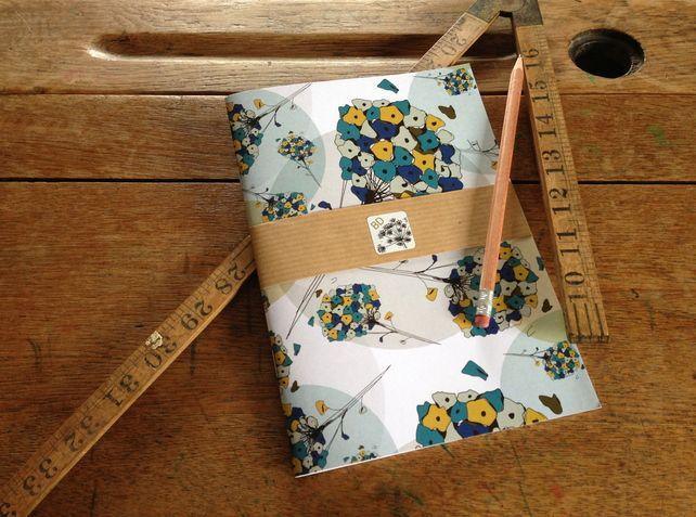 Puff Ball Design Lined Notebook -- Day Dream Hedgerows £5.00