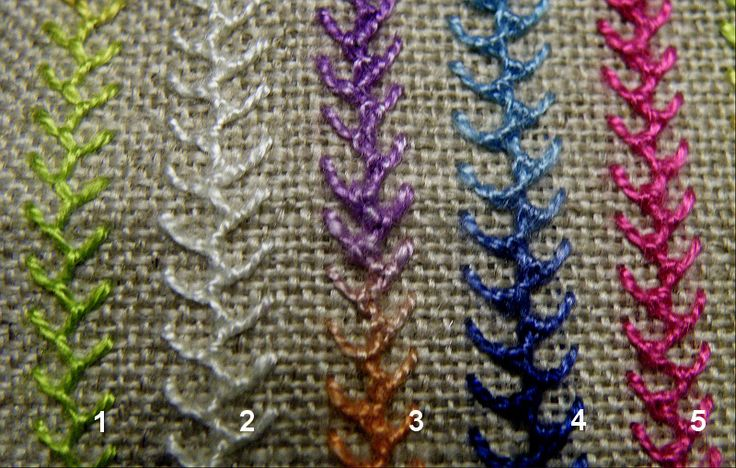 89 best images about EMBROIDERY STITCH - CHAIN, FLY AND BUTTONHOLE STITCHES o...