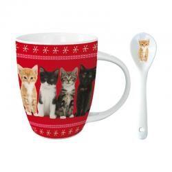Kakao Tasse mit Löffel - From Kittens With Love-Haustierbedarf-Shop: Goodies für Katzen und Hunde online kaufen