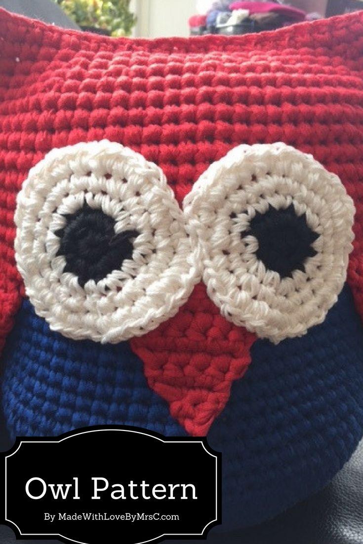 Buy a pattern of this Owl made i Ribbon yarn from Mayflowerknitting