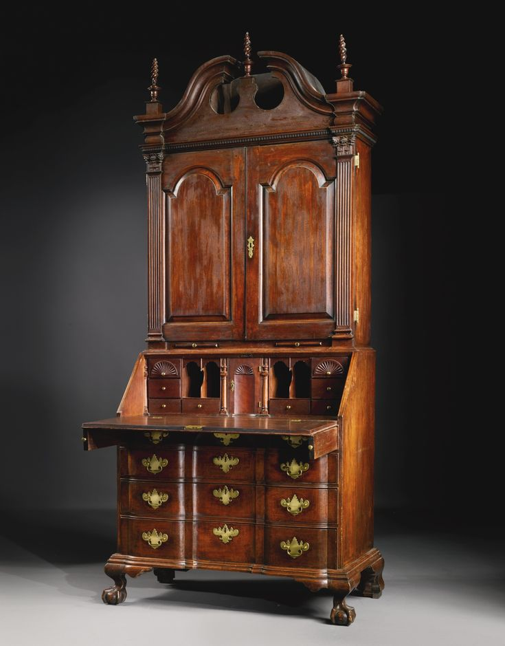 The Important and Exceptional Samuel Talcott Chippendale Carved Cherrywood  Block-Front Desk-and-Bookcase, probably Hartford, Connecticut, circa  possibly ... - 641 Best Antique Furniture Images On Pinterest Classic Furniture