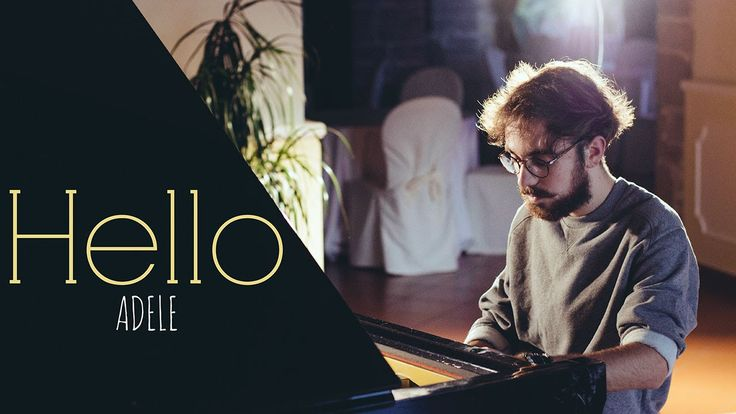 """The new """"Hello"""" song by Adele has taken over. Who couldn't enjoy this beautiful melody full of emotion? And the song is just as lovely without words as shown by Constantino Carrara in this piano cover"""