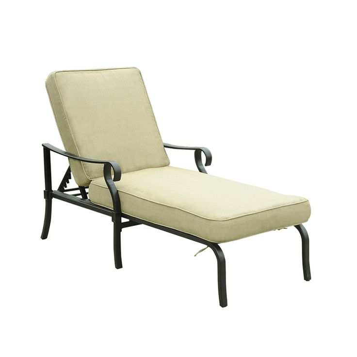 allen + roth Belthorne Patio Chaise Lounge Chair