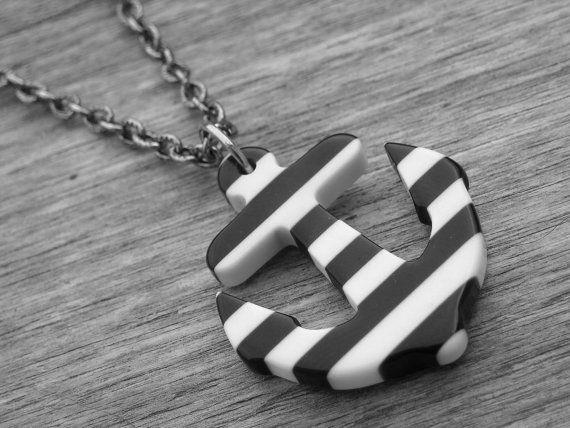 Anker Halskette Anker Schmuck nautische von InkandRoses13 auf Etsy, $20.99
