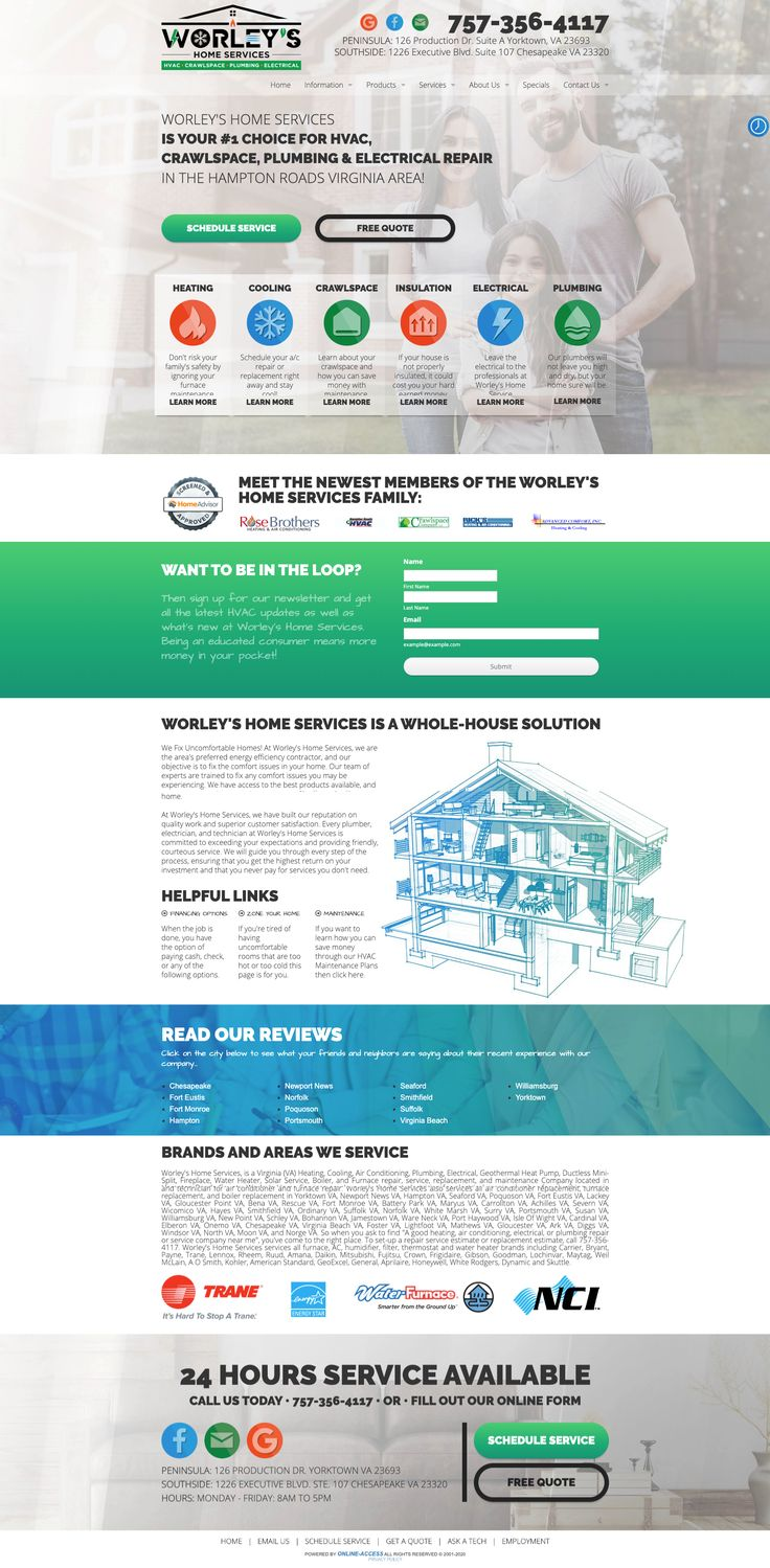 Contemporary Hvac Crawlspace Plumbing And Electrical Website Design Classic Modern Clean In 2020 Modern Website Design Website Design Modern Website
