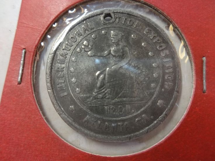 1881 Cotton Exposition Atlanta GA Expo Building Medal Token Coin