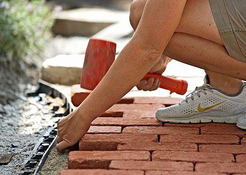 Make A Brick Patio