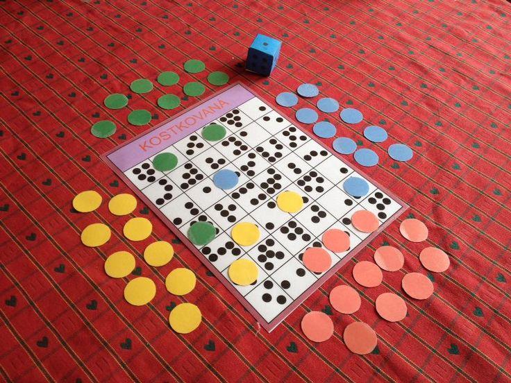 kostky kostkovaná hra počítání
