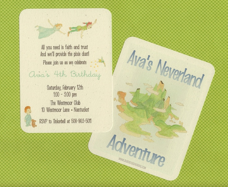20 best images about Peter Pan – Neverland Party Invitations
