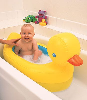 Buy your Munchkin White Hot Inflatable Duck Tub reviews from Kiddicare Bath Toys | Online baby shop | Nursery Equipment