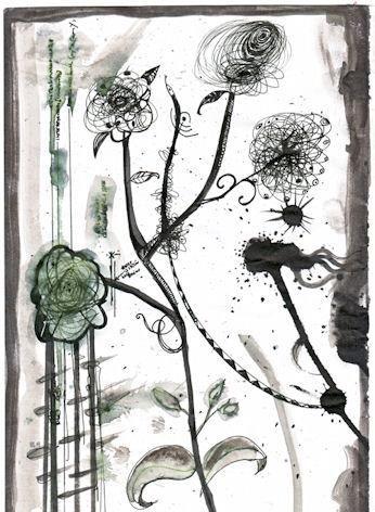 Flowers of Shaitan felicity purdon 2010 pen and ink